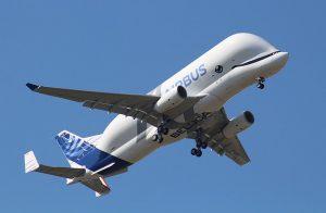 Airbus jet with beluga face