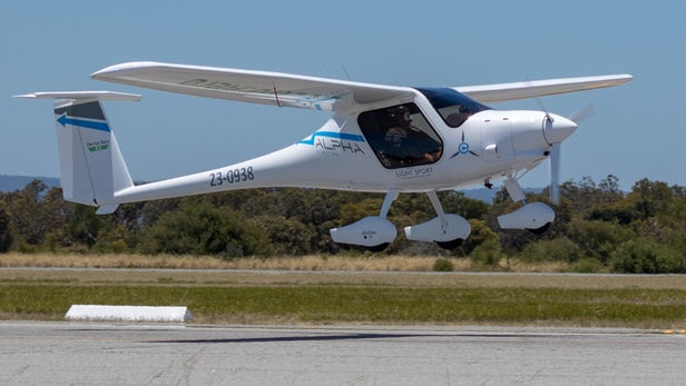 Battery-Powered Electric Plane Completes Test Flight
